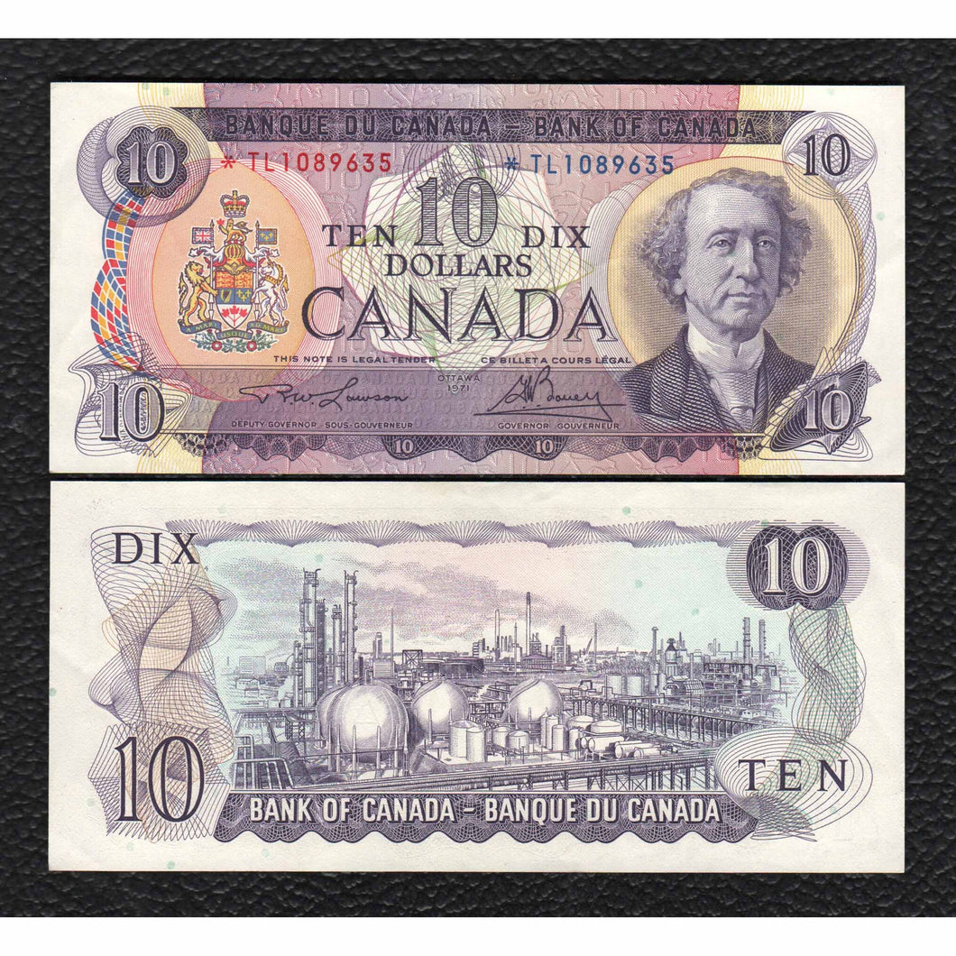 Canada P-88c *TL 10 Dollar (Replacement Note1) Grades Extra Fine