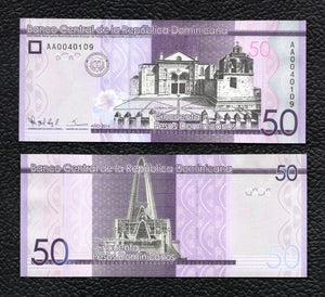 Dominican Republic P-189  2014  50 Pesos - Crisp Uncirculated