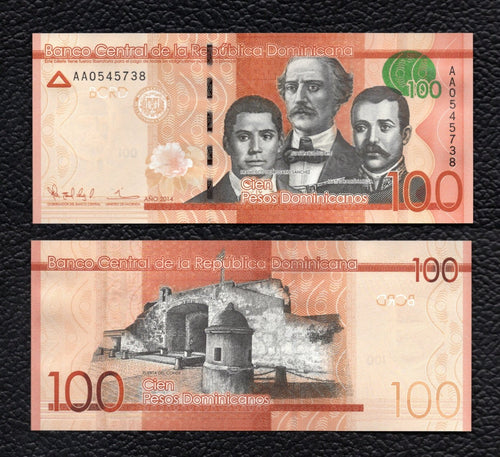Dominican Republic P-191  2014 100 Pesos Dominicanos - Crisp Uncirculated