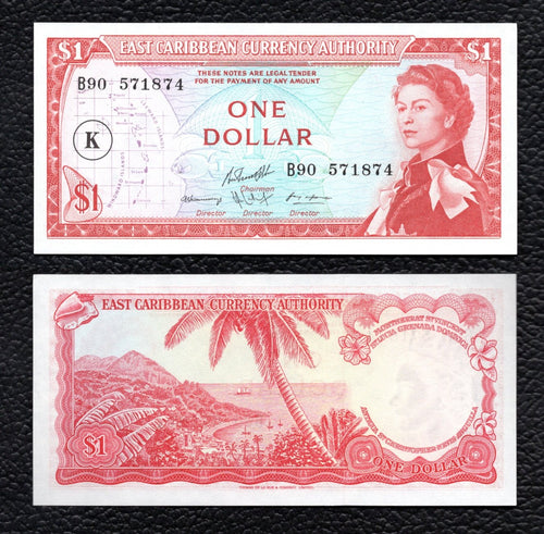 East Caribbean States P-13k  ND(1965)  1 Dollar - Crisp Uncirculated