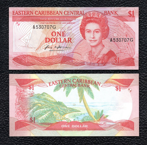 East Caribbean States P-17g  ND(1985-88)  5 Dollars - Crisp Uncirculated