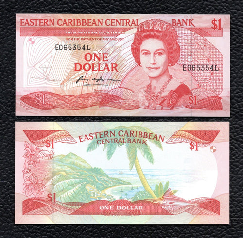East Caribbean States P-21i ND(1988-89) 1 Dollar- Uncirculated