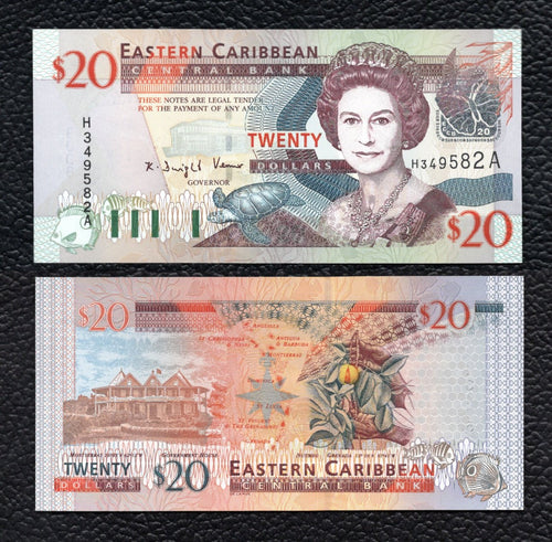 East Caribbean States P-44a  ND(2003)  20 Dollars - Crisp Uncirculated