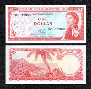 East Caribbean States P-13h ND(1965) 1 Dollar - Crisp Uncirculated