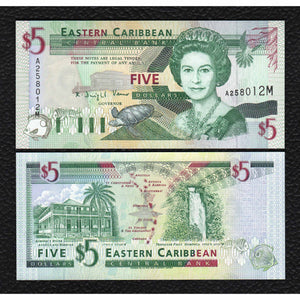 East Caribbean States P-31m ND(1994) 5 Dollars - Crisp Uncirculated