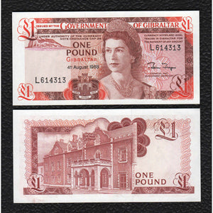 Gibraltar P-20c 10 11.1983 1 Pound - Crisp Uncirculated