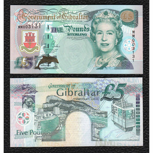 Gibraltar P-29 2000 5 Pounds - Crisp Uncirculated