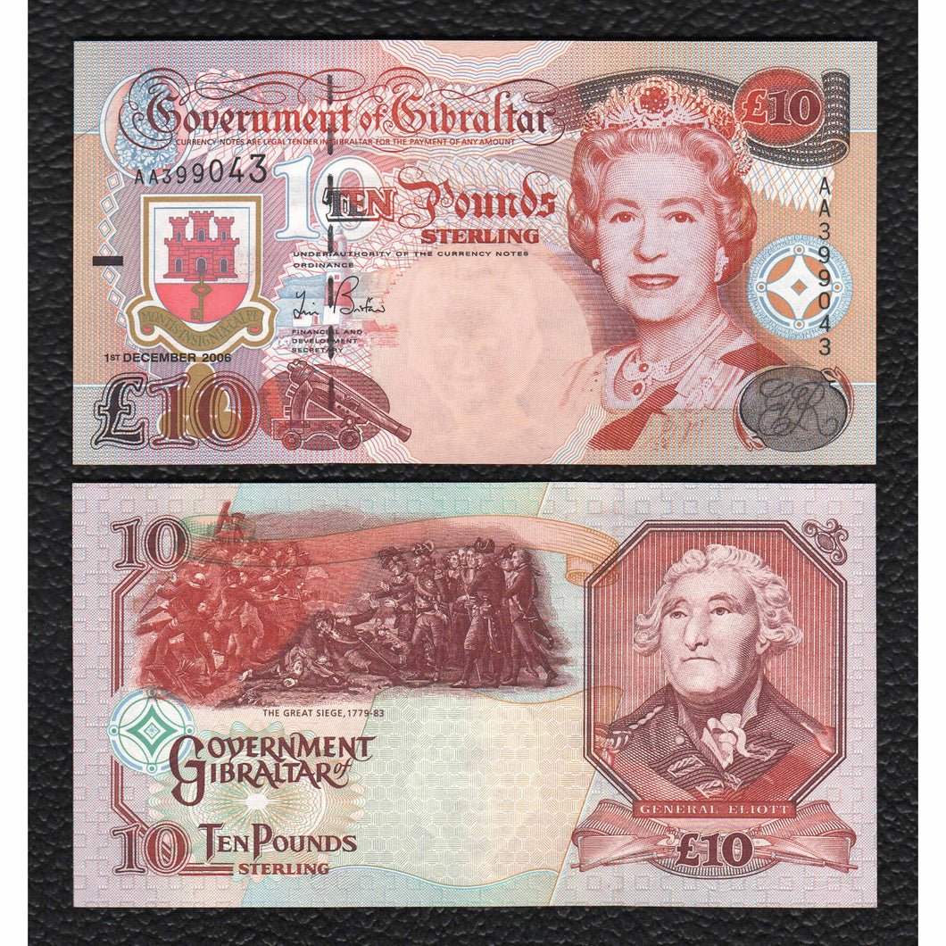 Gibraltar P-32  1.12.2006  10 Pounds - Crisp Uncirculated