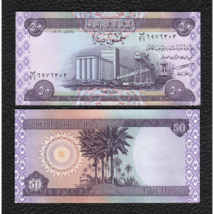 Iraq P-90 2003/AH1424  50 Dinars - Crisp Uncirculated