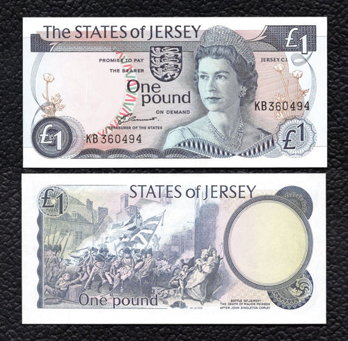Jersey P-11a ND(1976-86)  1 Pound - Crisp Uncirculated