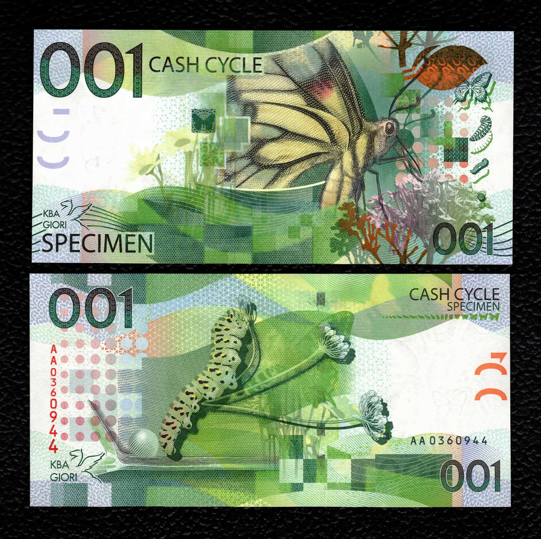 KBA Giori Swiss Test Note 001 Cash Cycle - Crisp Uncirculated