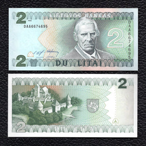 Lithuania P-54a 1993 2 Litai - Crisp Uncirculated
