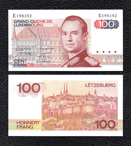 Luxembourg  P-57  14.8.1980  100 Francs - Crisp  Uncirculated