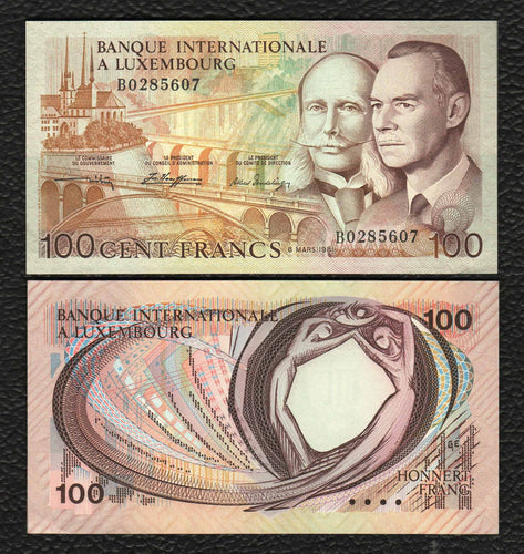 Luxembourg P-14A  8.3.1981  100 Francs- Crisp Uncirculated