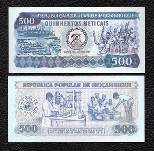 Mozambique P-127 16.6.1980  500 Meticals - Crisp Uncirculated