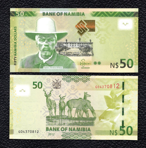 Nambia P-13  2012 50 Dollar - Crisp Uncirculated