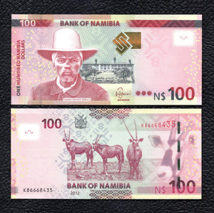 Nambia P-14 2012 100 Dollars - Crisp Uncirculated