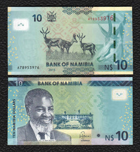 Nambia P-11  2015 10 Dollars - Crisp Uncirculated
