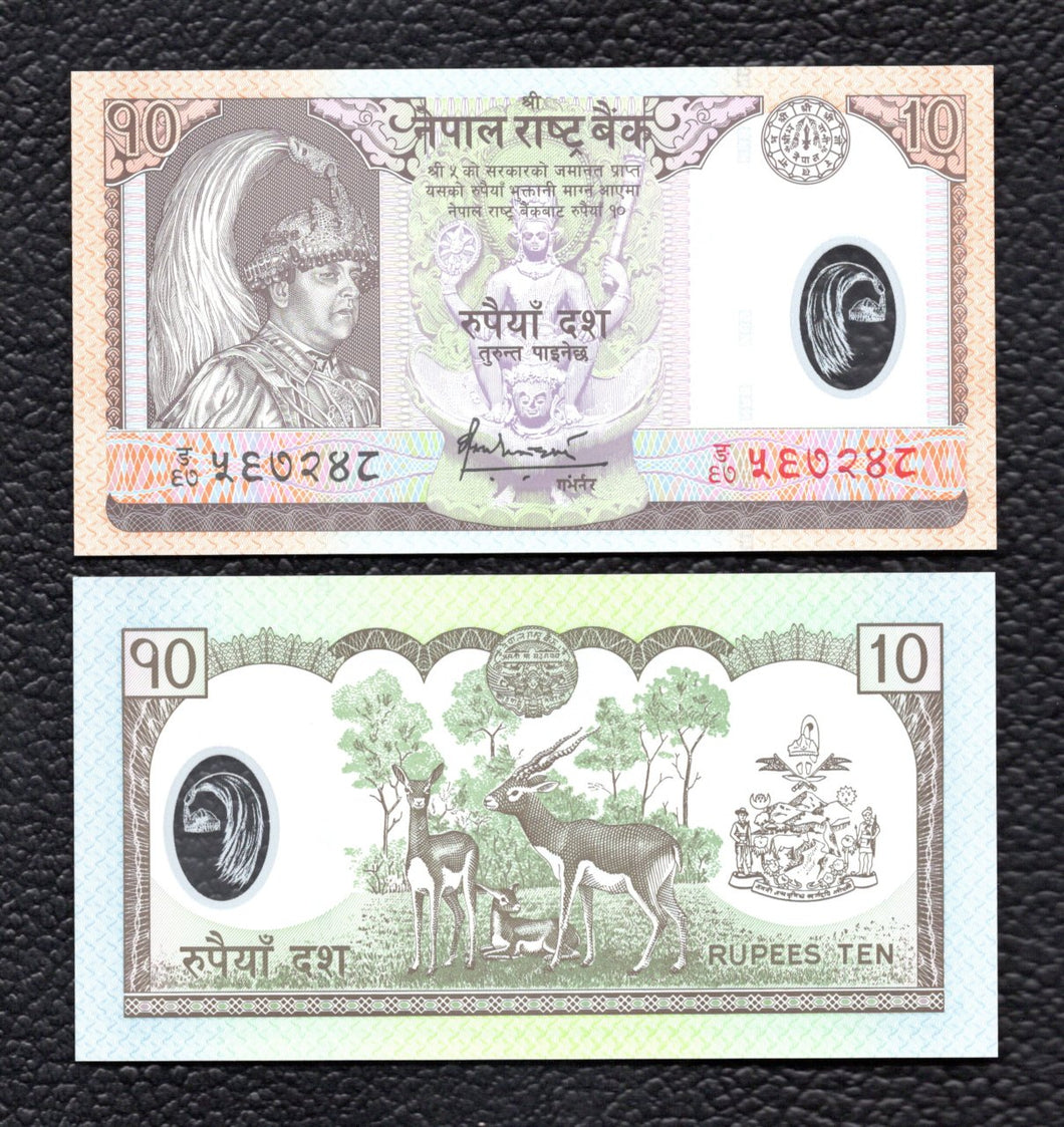 Nepal P-54 ND(2005)  Polymer Plastic 10 Rupees - Crisp Uncirculated