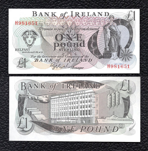 Northern Ireland P-65a ND  1 Pound - Crisp Uncirculated