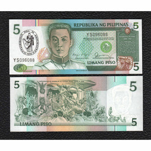 Philippines P-178a  1990  5 Piso - Crisp Uncirculated