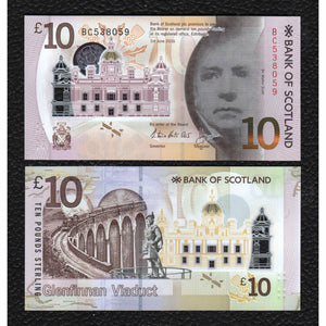 Scotland,  P-New 2017  Bank of Scotland,  Polymer Plastic  10 Pounds - Crisp Uncirculated
