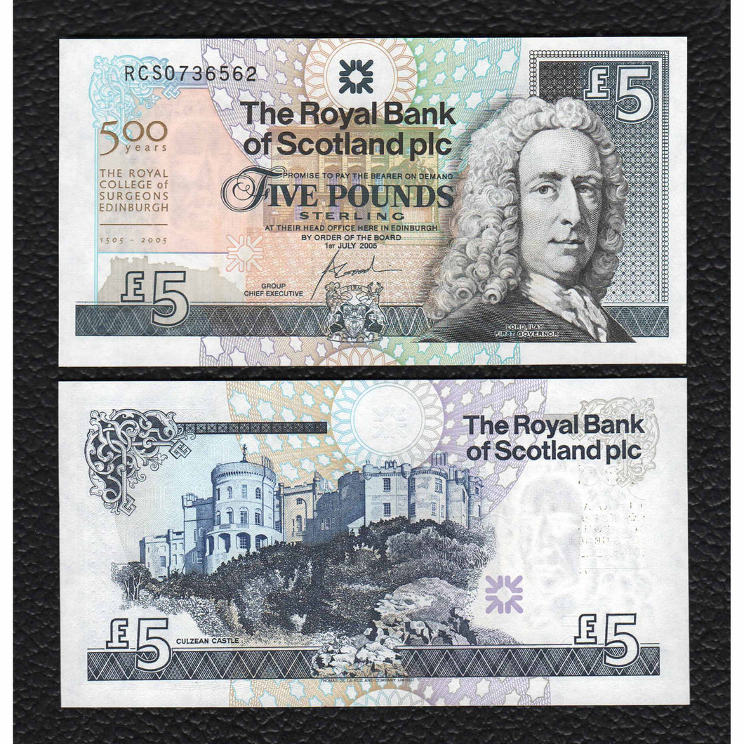 Scotland P-364  Royal Bank of Scotland  1.7.2005   5 Pounds - Crisp Uncirculated