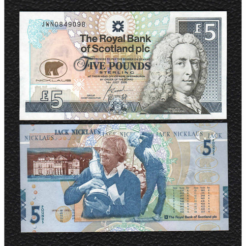 Scotland   P-365    11.10.09  Royal Bank of Scotland 5 Pounds - Crisp Uncirculated