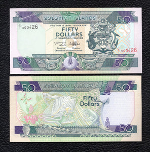 Solomon Islands P-22  ND(1996)  5 Dollars Crisp Uncirculated