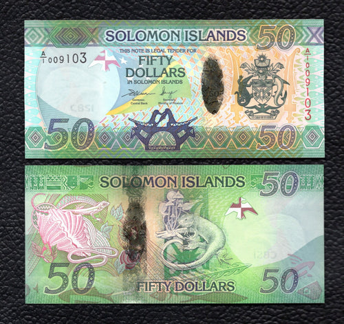 Solomon Islands P-35  ND(2013 )  50 Dollars Crisp Uncirculated