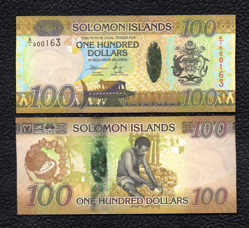 Solomon Islands P-36  ND(2013 )  100 Dollars Crisp Uncirculated