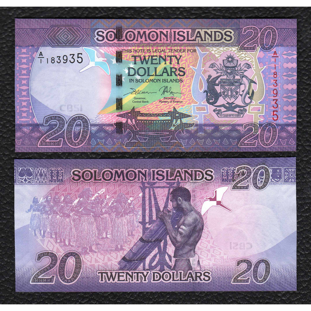 Solomon Islands P-NEW ND(2017) 20 Dollars - Crisp Uncirculated