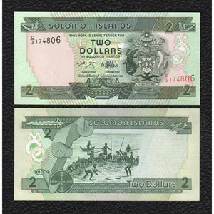 Solomon Islands P-18 ND(1997) 2 Dollars - Crisp Uncirculated
