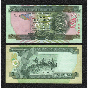 Solomon Islands P-31 ND(2013) 2 Dollars - Crisp Uncirculated