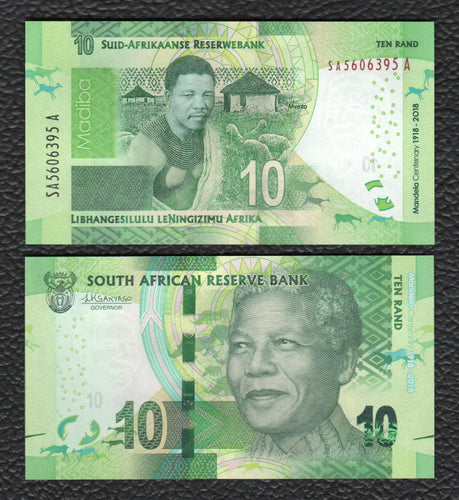 South Africa P-NEW 2018  10 Rand - Crisp Uncirculated