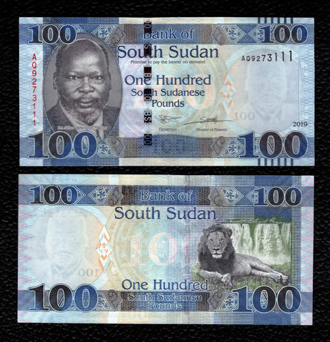 South Sudan P-NEW 2019  100 Pounds - Crisp Uncirculated
