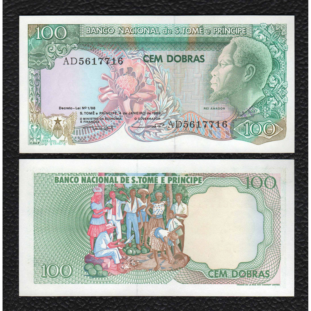 Saint Thomas & Prince P-60  4.1.1989  100 Dobras- Crisp Uncirculated