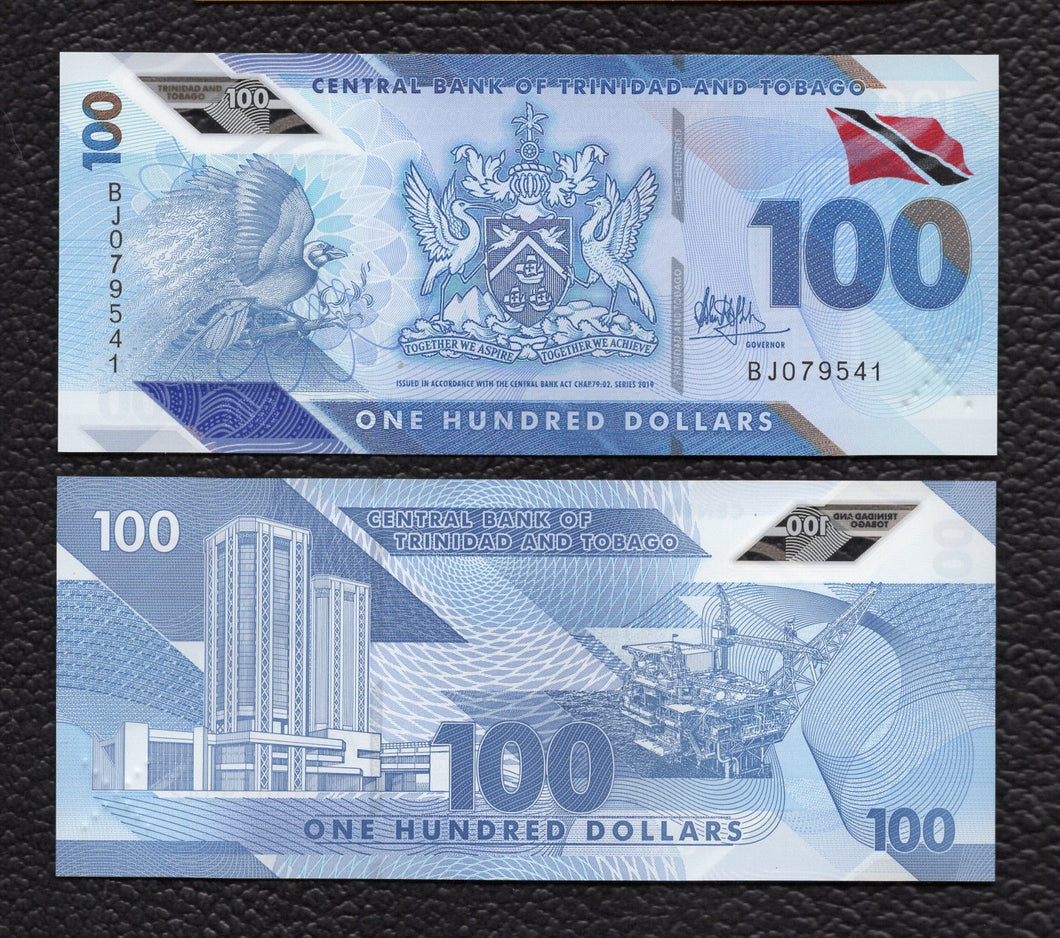 Trinidad  & Tobago P-NEW 2019 100 Dollars - Crisp Uncirculated
