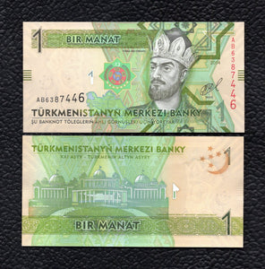 Turkmenistan P-29b  2014  1 Manat - Crisp Uncirculated