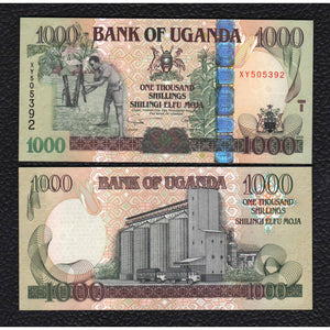 Uganda P-43a  2008  1000 Shillings - Crisp Uncirculated