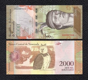 Venezuela P-NEW 2016/2017 2000  Bolivares - Crisp Uncirculated