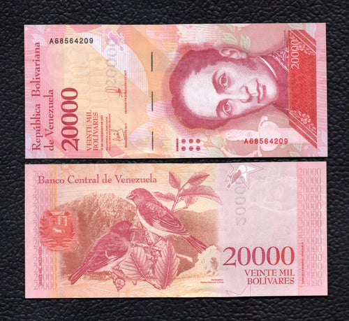Venezuela P-NEW 2016/2017  20,000 Bolivares - Crisp Uncirculated