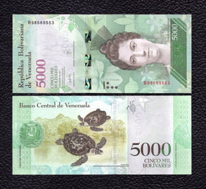 Venezuela P-NEW 2017  5000  Bolivares - Crisp Uncirculated