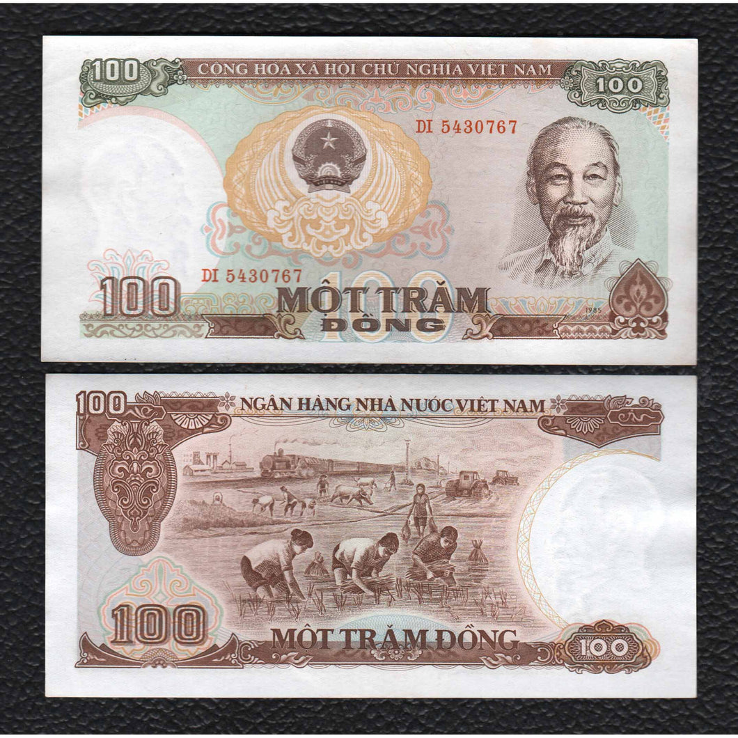 Viet Nam P-98a  1985 100 Dong - Almost Uncirculated