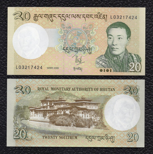 Bhutan P-30a 2006 20 Ngultrum - Crisp Uncirculated