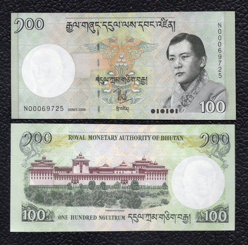 Bhutan P-32  (2006) 100  Ngultrum - Crisp Uncirculated