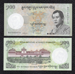 Bhutan P-32b 2011 100 Ngultrum - Crisp Uncirculated