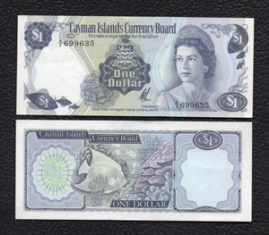 Cayman Islands P-1b L1971(1972) Dollar - Crisp almost Uncirculated/Uncirculated
