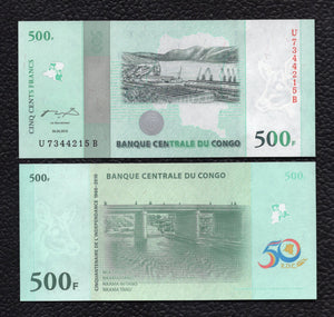 Congo Democratic Republic P-100 30.06.2010 500 Francs - Crisp Uncirculated