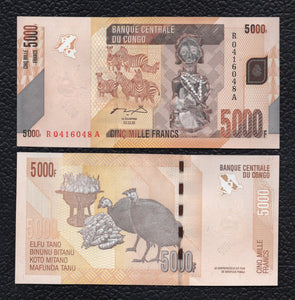 Congo Democratic Republic P-102a 2.2.2005 5000 Francs - Crisp Uncirculated